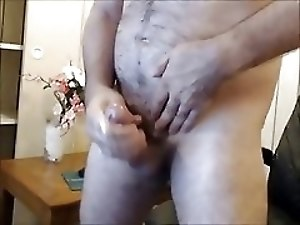 dads friend jerking off