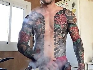 SEXY TATTOED MEN IN THE KITCHEN