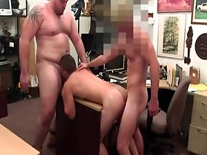 Naked hunk worker gay Guy ends up with anal sex threesome