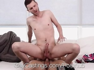 GayCastings Newcomer John Darling fucked on film with agent