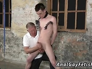Gay rubber lover bondage stories With his soft nut sack tugged and