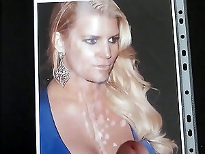 Cum  tribute to Jessica Simpson
